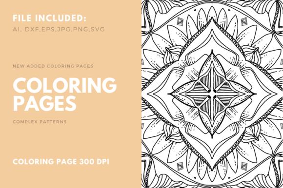 Geometric Coloring Poge For Kdp Graphic By Stanosh Creative Fabrica In 2020 Designs Coloring Books Coloring Book Pages Coloring Pages