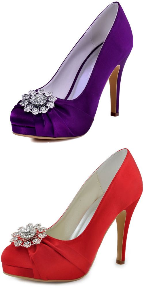 Wedding Shoes And Bridal Shoes: Ep2015 Purple Close Toe High Heels ...