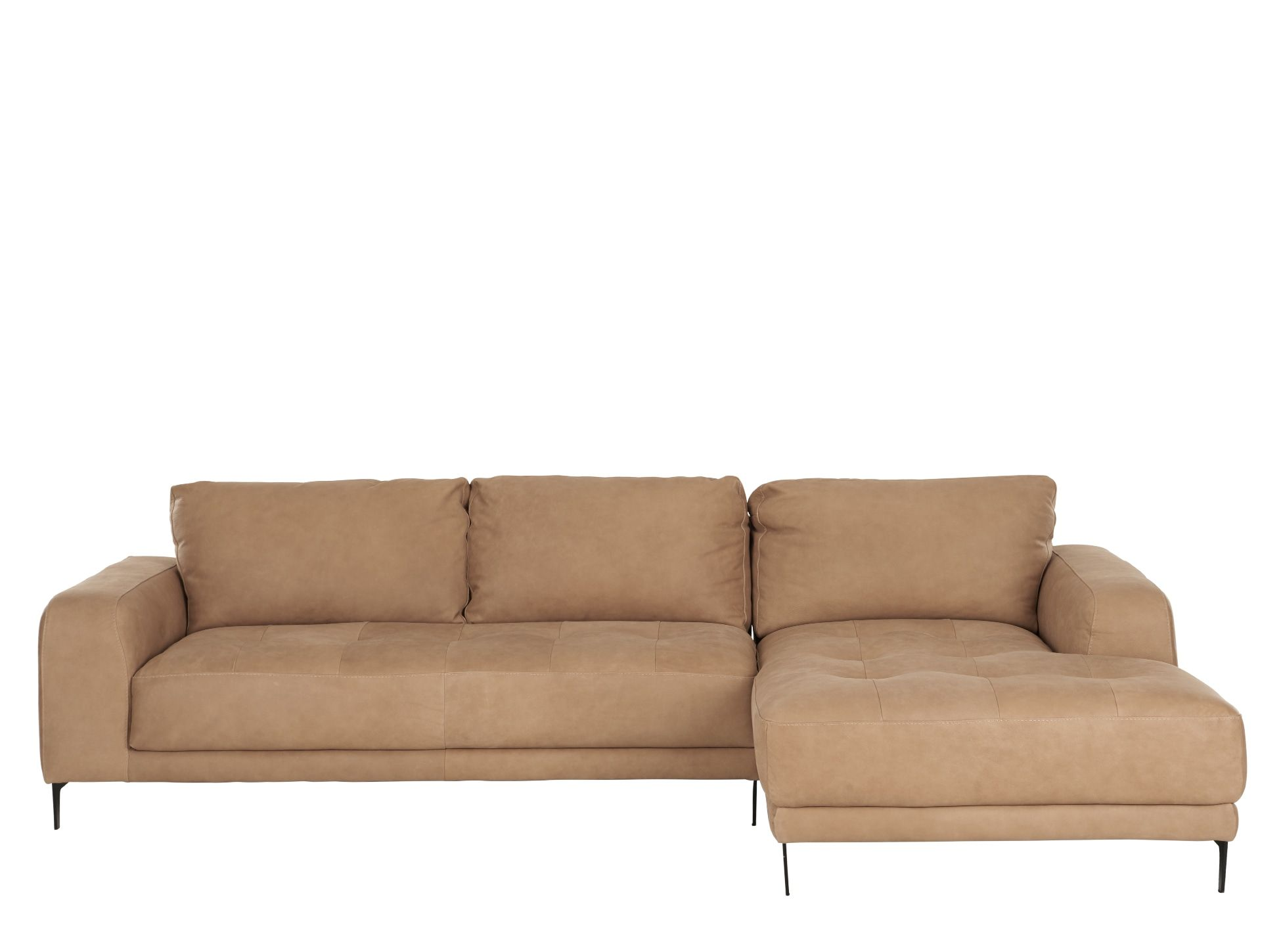 Luciano Right Hand Facing Chaise End Corner Sofa Tan Leather Corner Sofa Best Leather Sofa Sofa