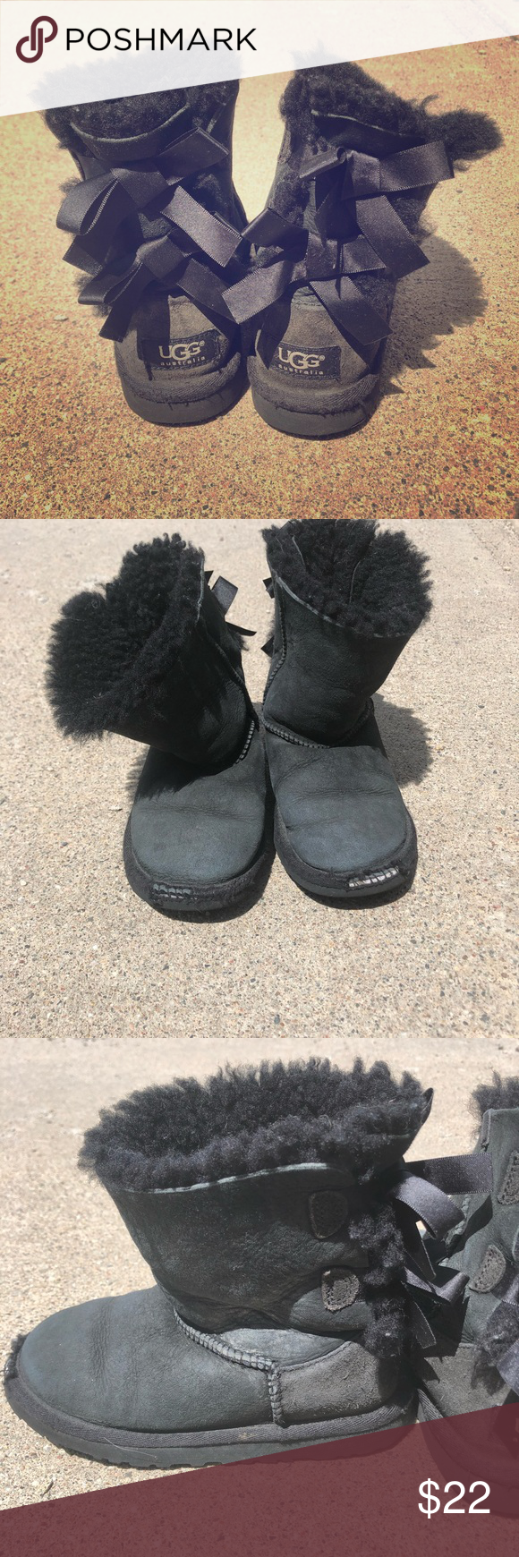 Ugg Boots! Bailey Bow Girls Sz 13 Used but a lot of life left! Size 13 girls black Ugg boots with bow detail on back. Style name is Bailey Bow. Retail for $149. UGG Shoes Boots #uggbootsoutfitblackgirl Ugg Boots! Bailey Bow Girls Sz 13 Used but a lot of life left! Size 13 girls black Ugg boots with bow detail on back. Style name is Bailey Bow. Retail for $149. UGG Shoes Boots #uggbootsoutfitblackgirl