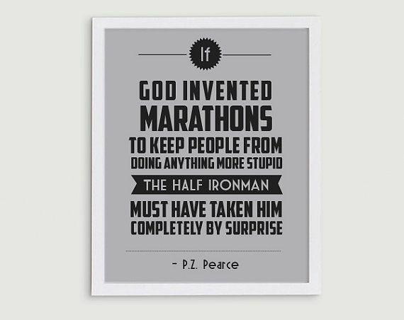 Popular Items For Triathlon Quote On Etsy Half Ironman Triathlon Quotes Iron Man