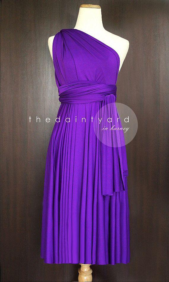 Short Straight Hem Barney Infinity Dress Multiway by thedaintyard ...