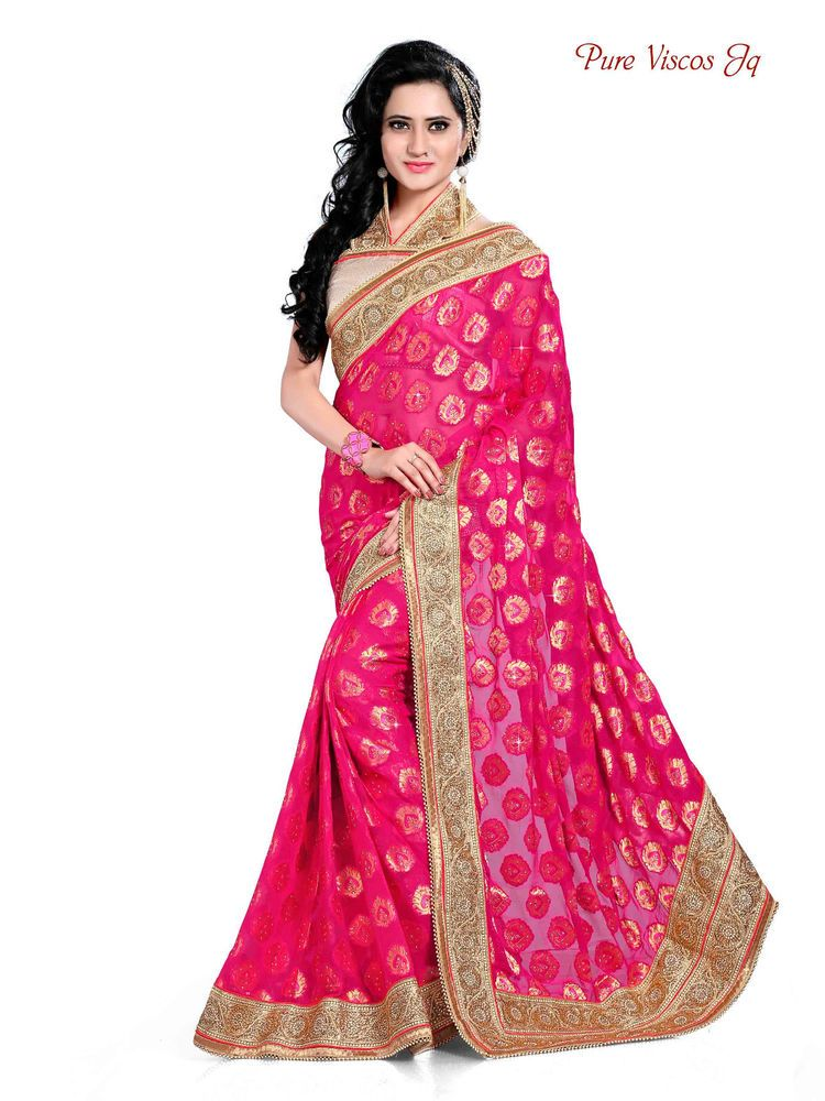 Pakistani Sari Ethnic Indian Designer Saree Dress Bollywood Party ...