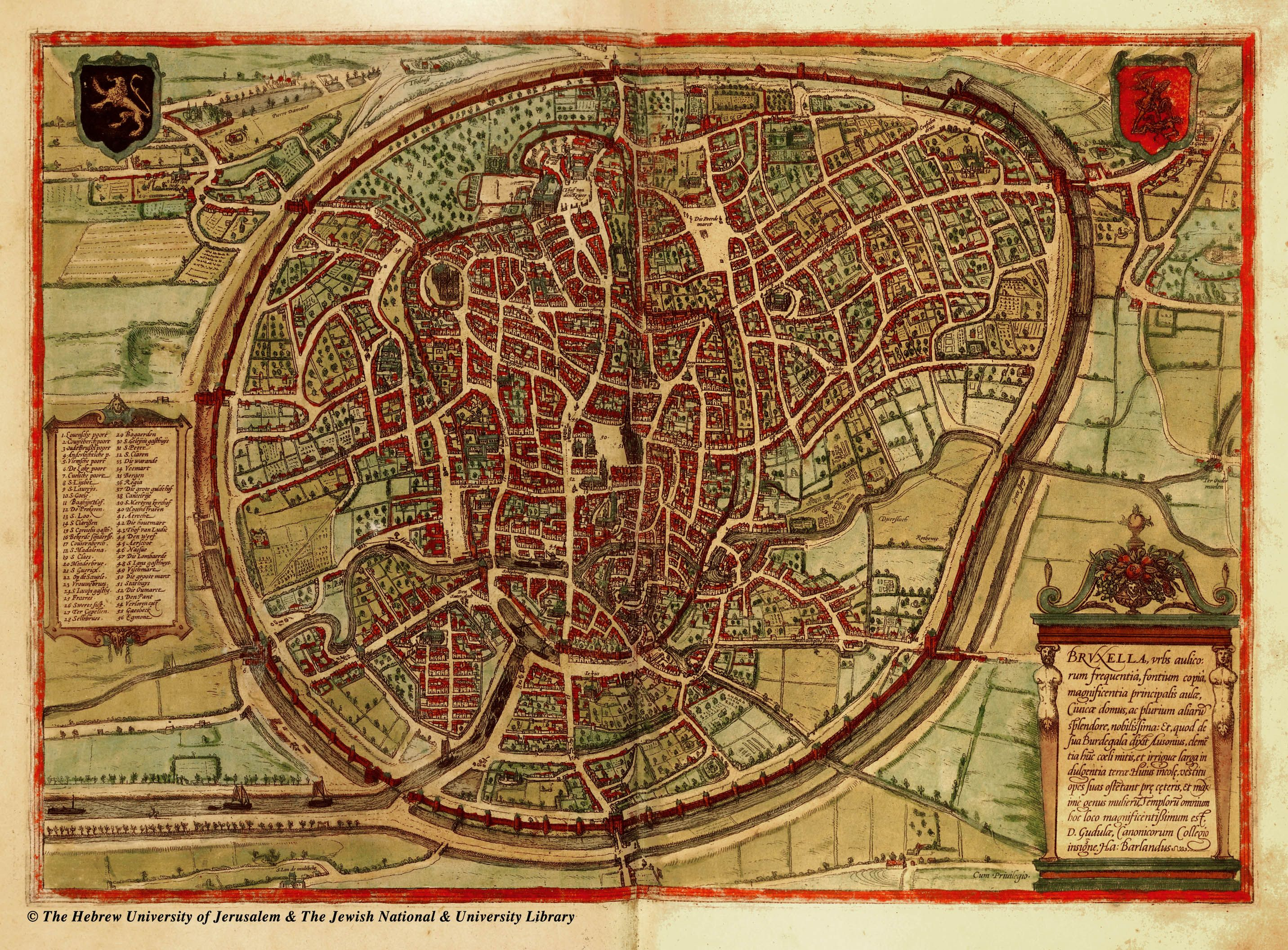 Maps of Medieval Cities Bologna Bristol Brugge