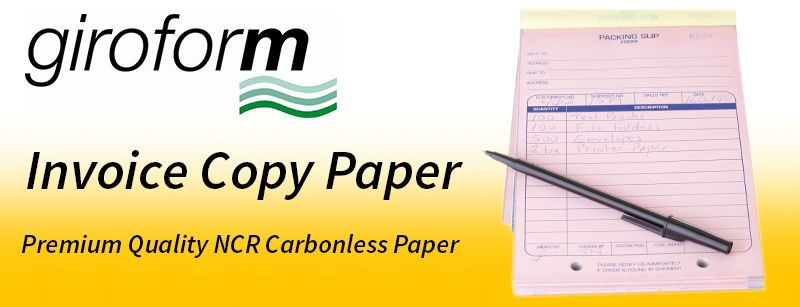 Carbonless Paper Ncr Invoice Giroform Invoice Paper Business Stationery Paper Stationery Paper