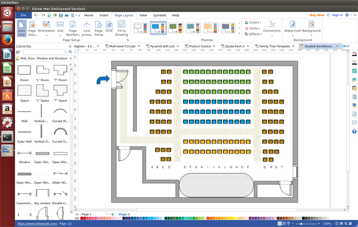 Edraw Max Is A Cross Platform Seating Plan Software Allowing Users