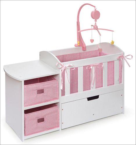 Badger Basket Doll Crib with Storage Dresser and Trundle Drawer for ...