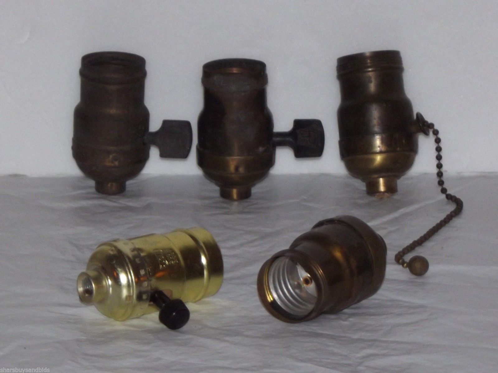 Vintage Light socket(s) Parts Eagle, Meteor,Paiste Arrow, Leviton ...