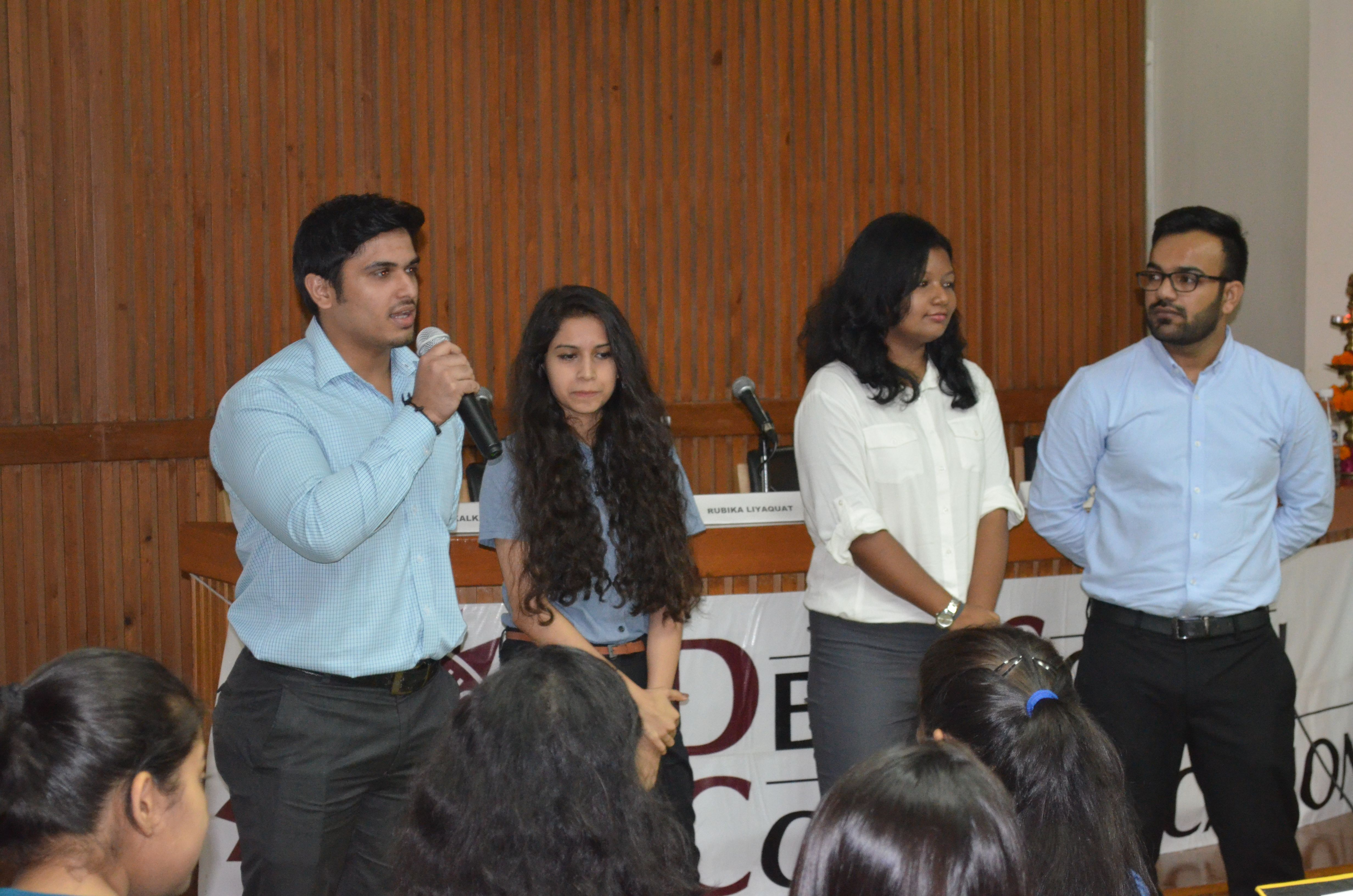 The induction programme then proceeded with an ice-breaking session, which was full of fun and games.