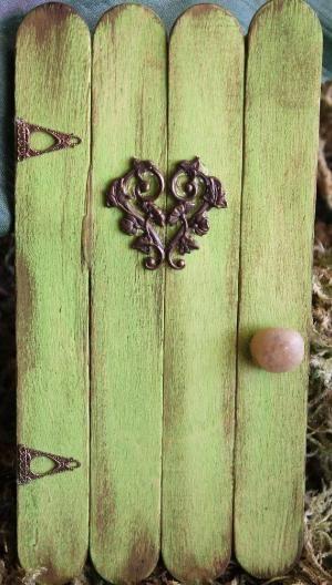 Garden Fairy Door Mushroom Blue FREE by EnchantedP