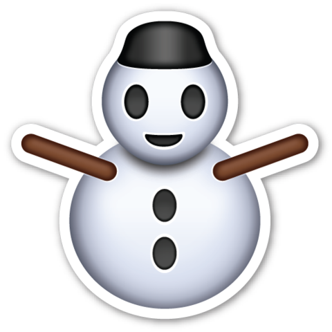 Snowman without Snow Emoji stickers