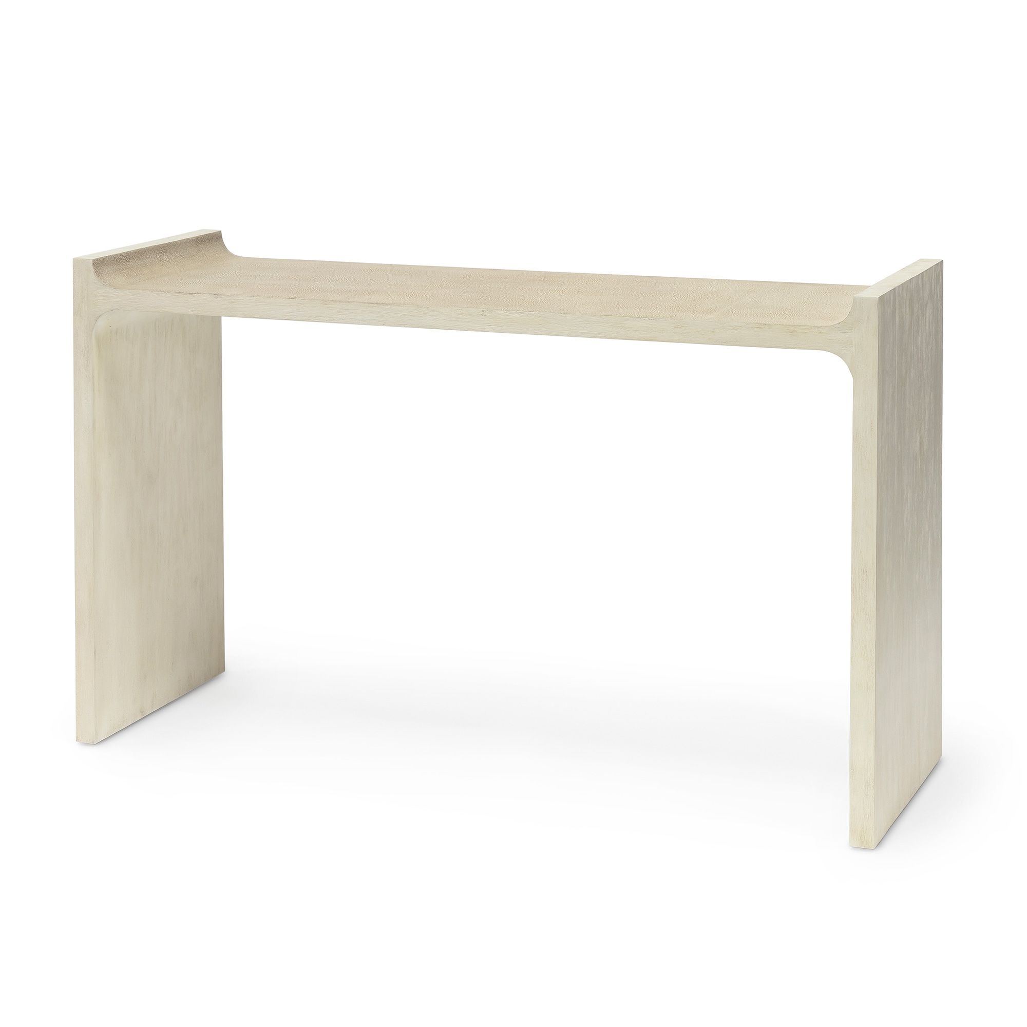 Crew Console Table Console Table Hardwood Frame White Wash Finish
