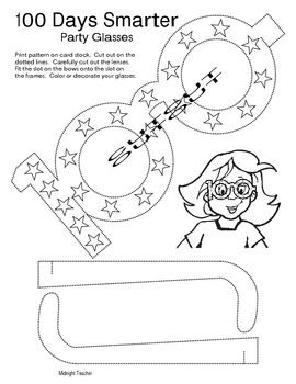 Make a pair of funky glasses for celebrating the 100 days