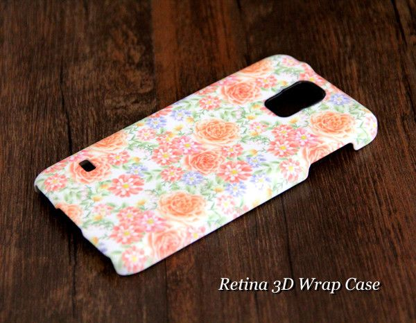 Pink and White Floral Samsung Galaxy S5/S4/S3/Note 3/Note 2 3D-Wrap Case