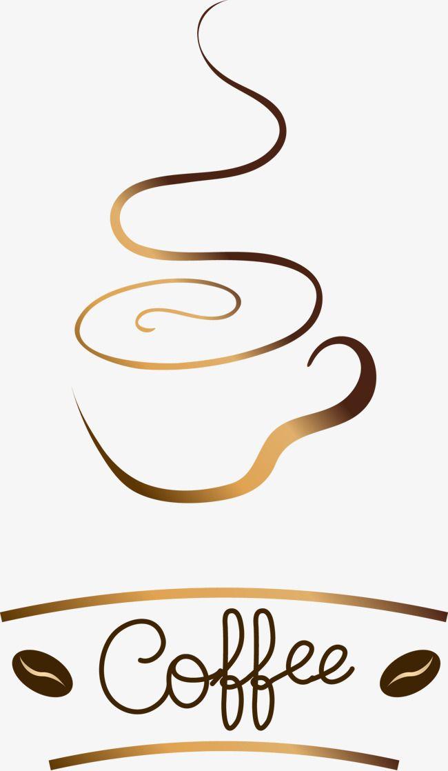 Jane Pen Golden Brown Coffee Logo Logo Logo Decoration Vector