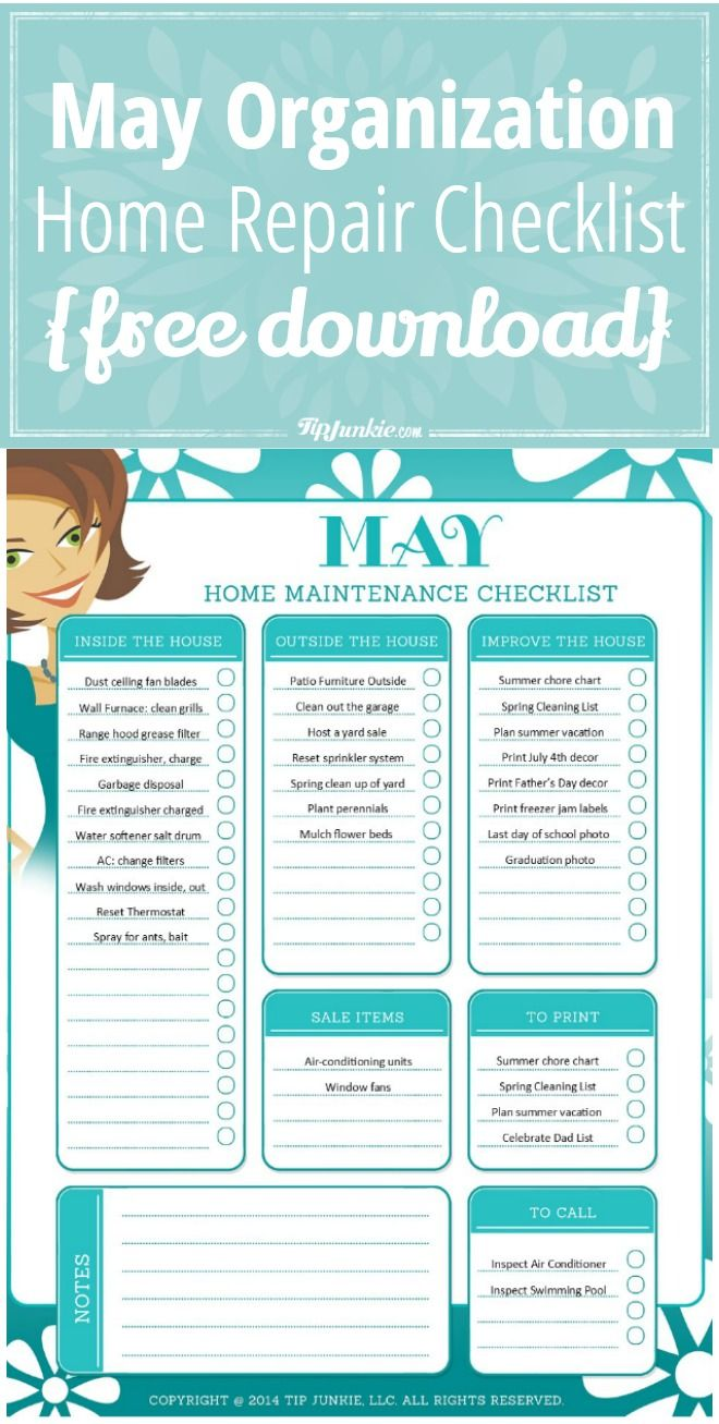 Photo of Mai Checkliste für Organisation und Reparatur zu Hause {kostenloser Download}