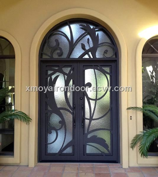 Custom Wrought Iron Double Doors OYA-2026