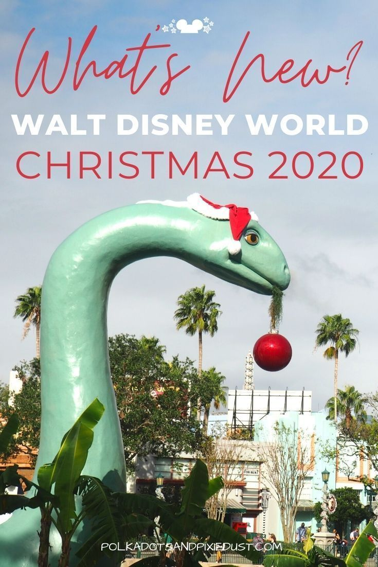 Disney World at Christmas time comes with new snacks, decorations, seasonal events and crowds! Check out everything NEW for Christmas in 2020 at Walt Disney World. With a brand new digital show on the castle and Minnie's Holiday Dine! There's a bunch of new things to see at Walt Disney World this Christmas. #disneychristmas #disney2020 #polkadotpixies