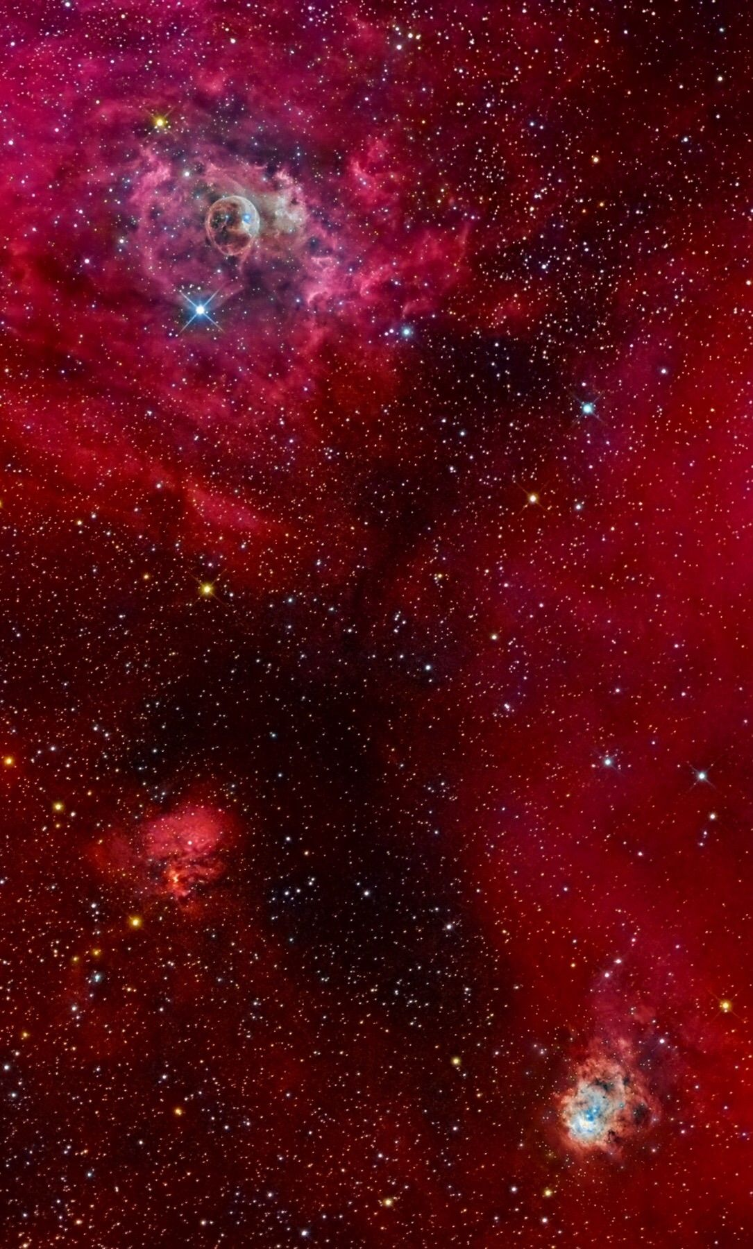 NGC 7635 (Bubble Nebula), Sh2-159, NGC 7538 Credit: Emil Ivanov