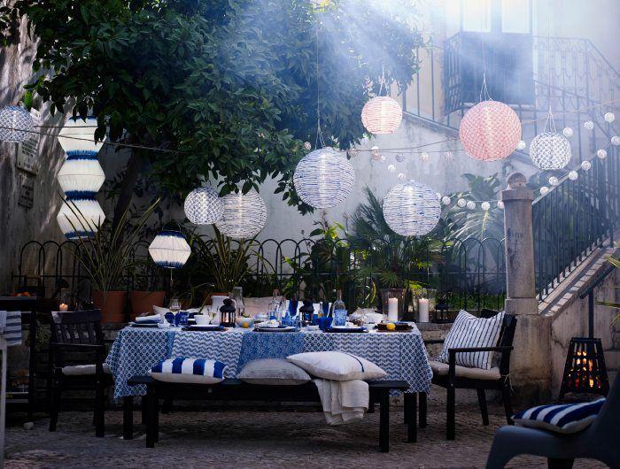 5 ideas económicas para iluminar el jardín | Ikea exterior