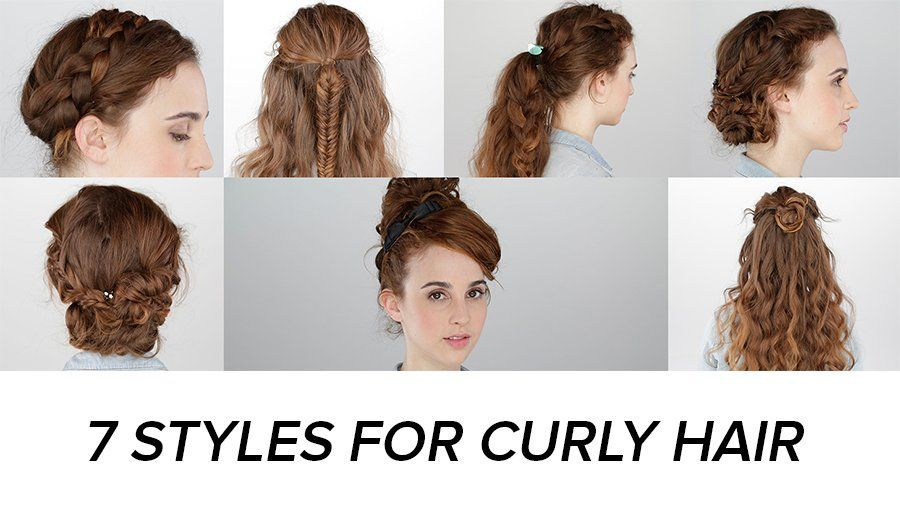 7 Days Of Easy Curly Hairstyles Curly Hair Styles Easy Curly Hair Styles Curly Hair Videos