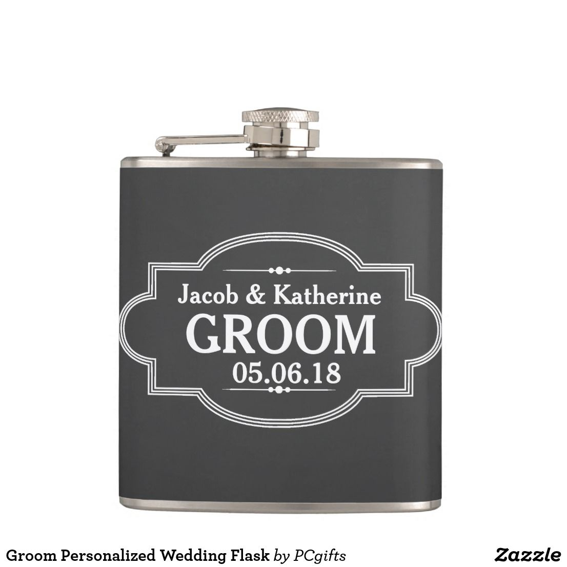 Wedding Gifts For Ushers And Best Man: Groom Personalized Wedding Flask. Email Me At Sales