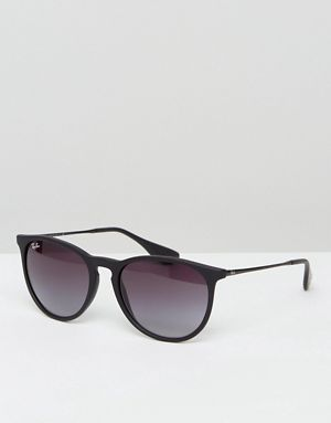 Ray-Ban Erika Keyhole sunglasses in black rb4171 622 8g   Accessories    Things   Pinterest   Sunglasses, Ray bans and ASOS 8f5ae91919