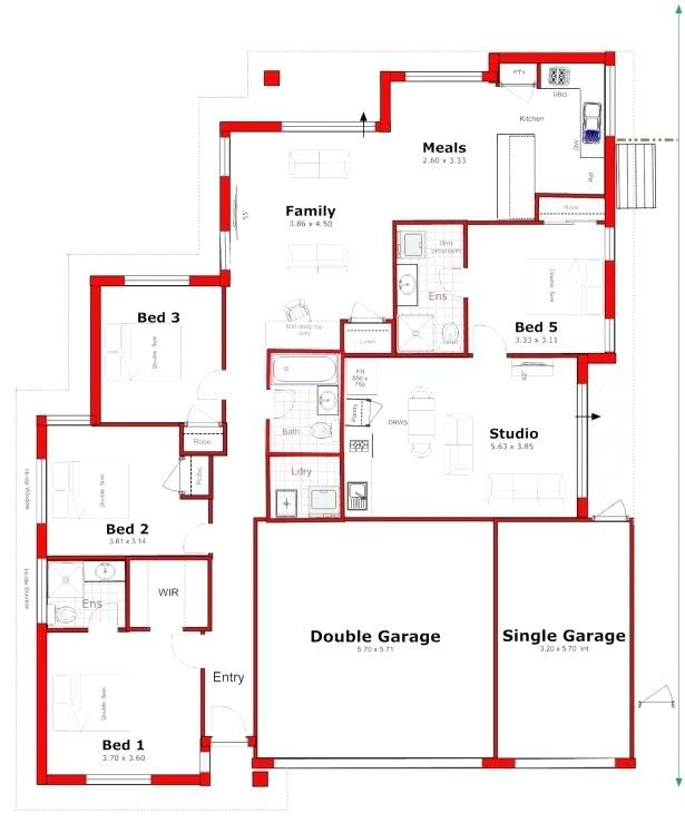 Image result for house plan with attached granny flat ... on house kitchen plans, house basement plans, house open plans, house garage plans, house apartment plans, house front plans, house side plans, house ranch plans, house cottage plans,