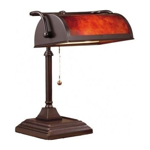 Bankers Desk Lamp Lighting Shade Table Banker Piano Light Student Style Classic Traditional Traditional Desk Lamps Brown Lamps Lamp