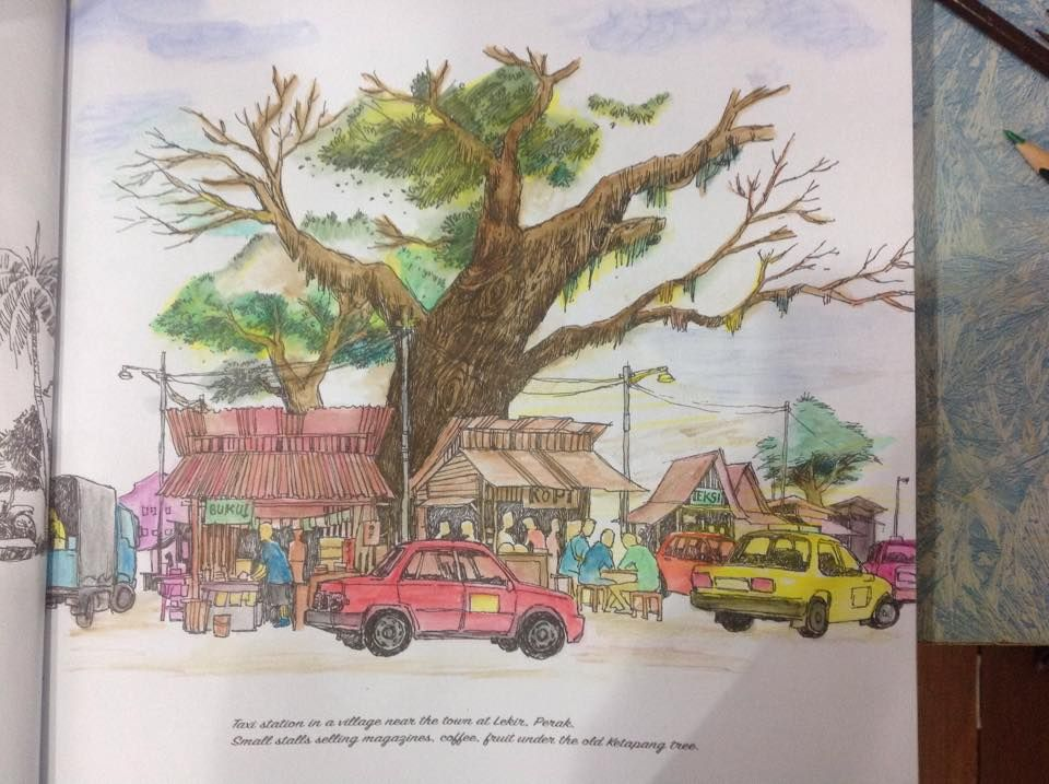MALAYSIA SCENERY ADULT COLOURING BOOK PART 2