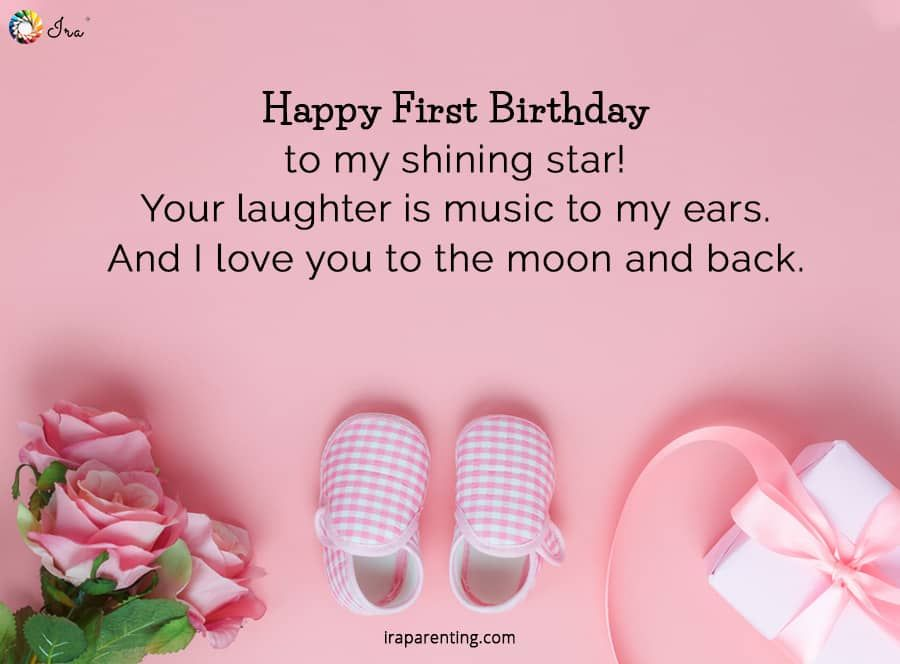 1st Birthday Wishes For Baby Girl Ira Parenting 1st Birthday Wishes Birthday Boy Quotes Baby Birthday Wishes