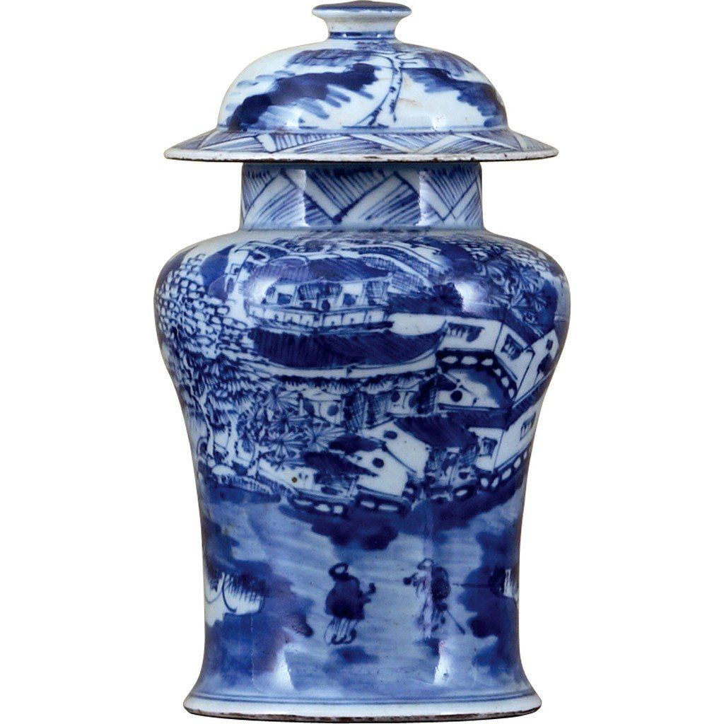 Classic Porcelain  BLUE AND WHITE SMALL WARRIOR JAR is part of Classic Home Accessories Blue And White - 3 25DX 7 5 H BLUE AND WHITE SMALL WARRIOR JAR (CLASSIC)