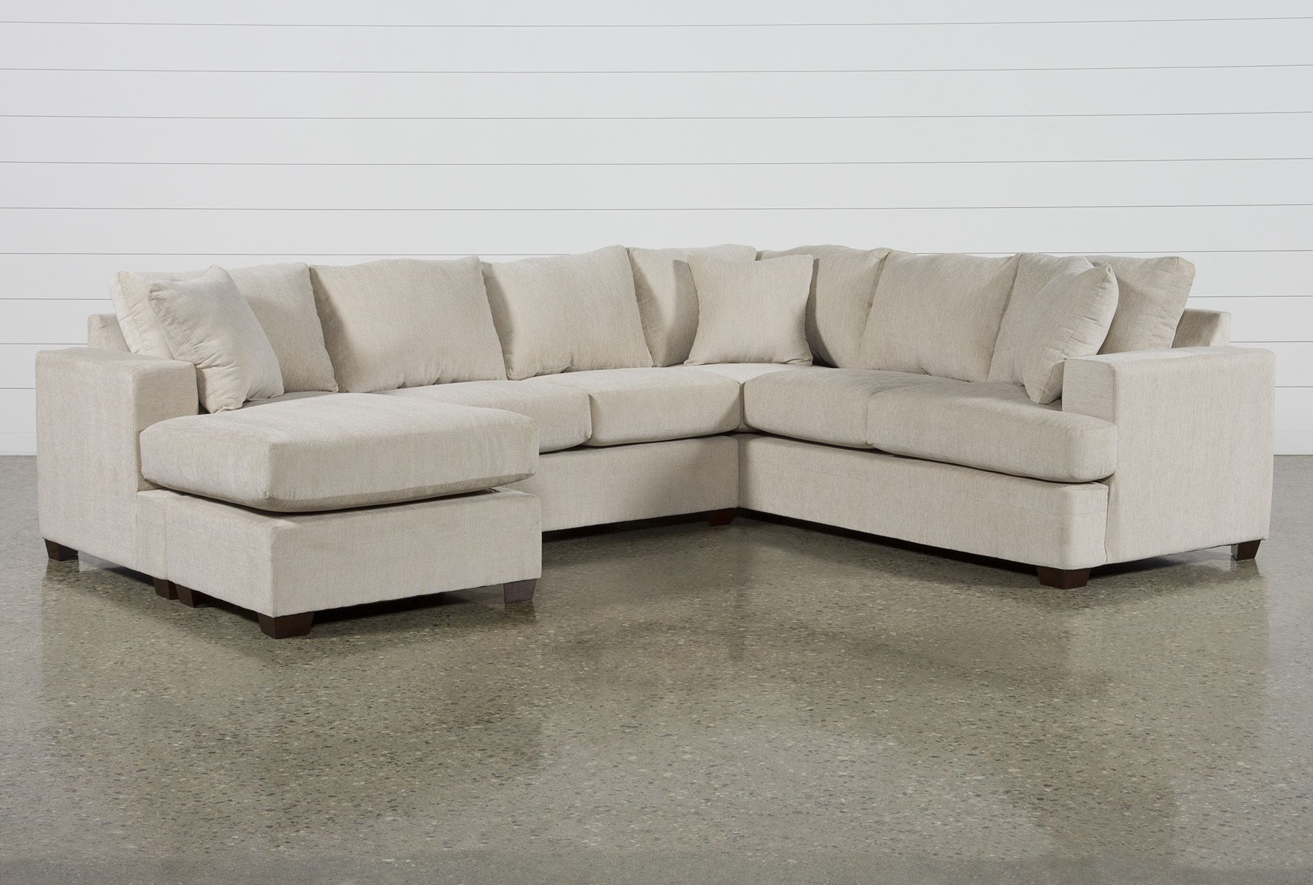 Best Kerri Sand 2 Piece Sectional Sofa With Left Arm Facing 400 x 300