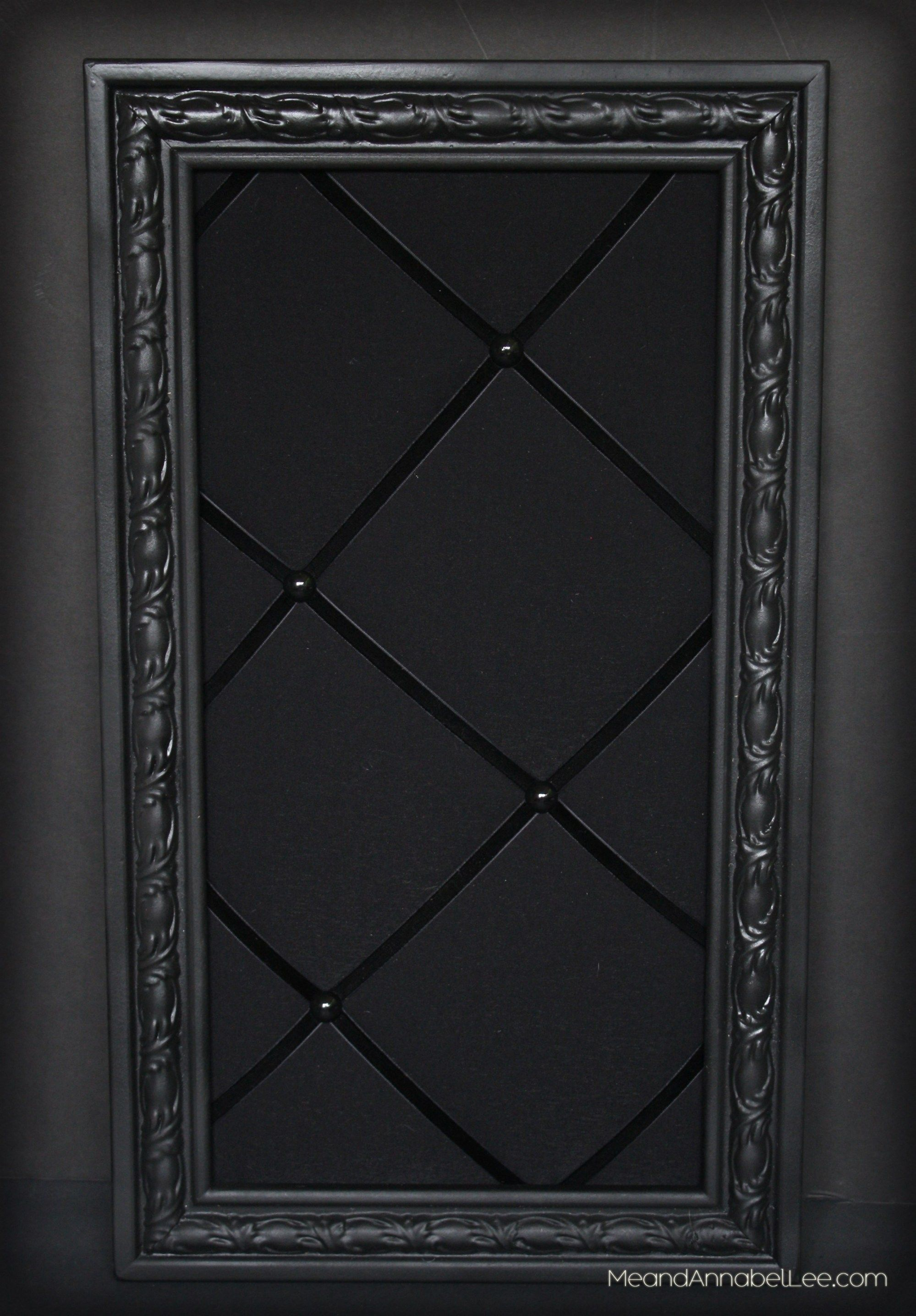 DIY Upholstered Gothic Memo Board - Black Victorian Pin Board - Goth Home Decor | Me and Annabel Lee - Gothic Blog