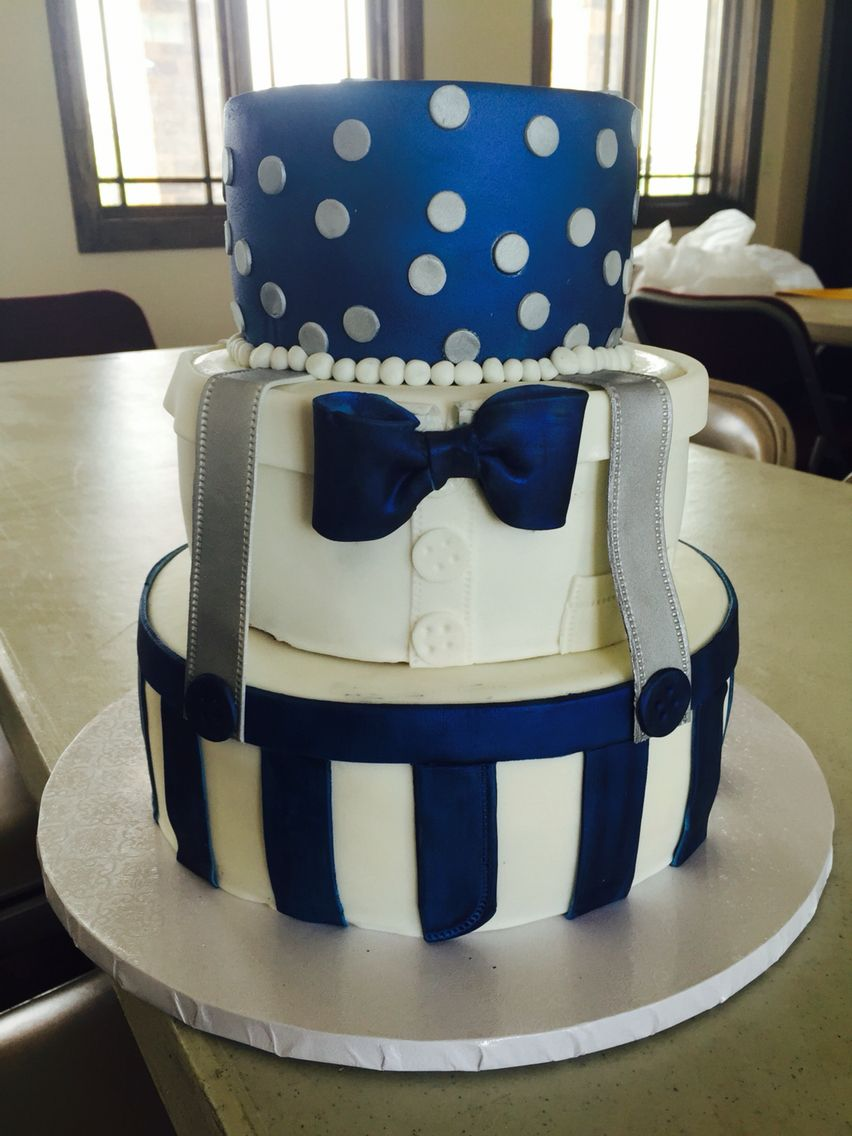 Handsome Baby Boy Baby Shower Cake Bow Ties And Suspenders