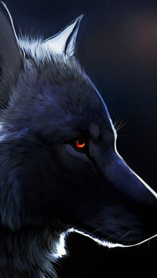 Red eyed black wolf iphone wallpaper animals iphone - Anime wolf wallpaper ...