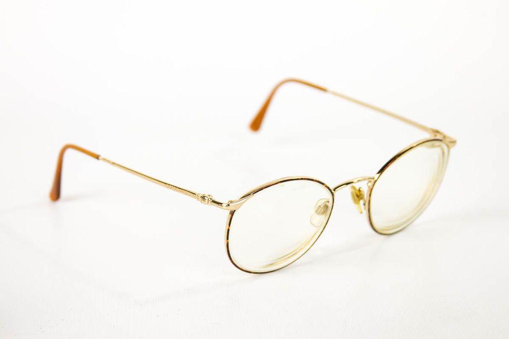 Giorgio Armani Gold Metal Full Rim Eyeglass Frames Eyeglasses Glasses Italy Armani Gold Eyeglasses Frames Eyeglasses