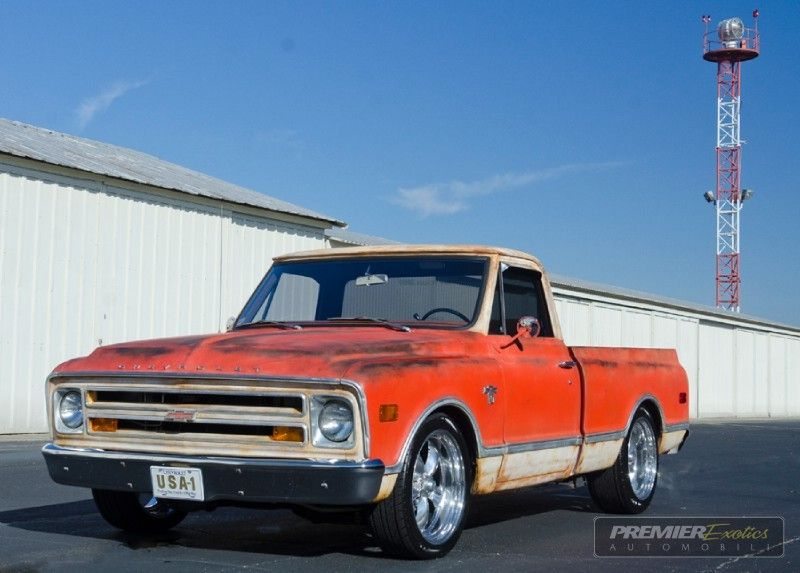 1968 Chevrolet C10 Orange White Exterior Hand Painted To Look Like
