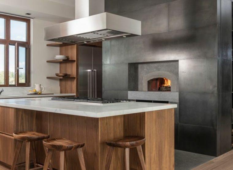 installer un four pizza bois un bon plan cuisine dintrieur - Four A Pizza Interieur
