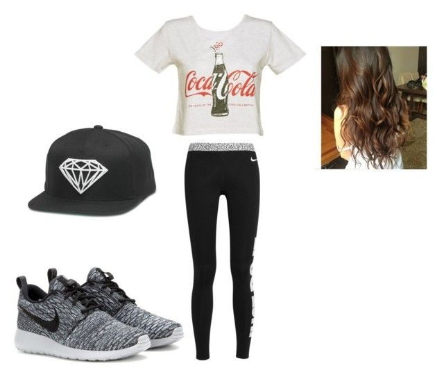"""""""Dance #1"""" by emily-pink ❤ liked on Polyvore featuring moda, NIKE, women's clothing, women's fashion, women, female, woman, misses y juniors"""