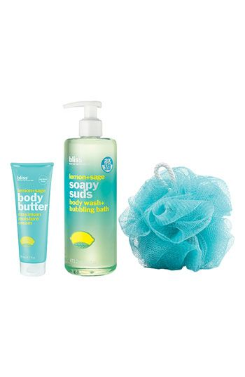 Bliss Spa products - Their lemony scent is incredible.