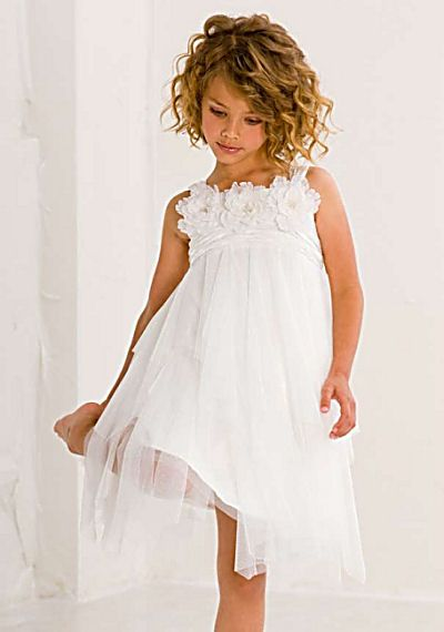 shir layer over solid.  Biscotti Girls Flower Dress White Ode to Love