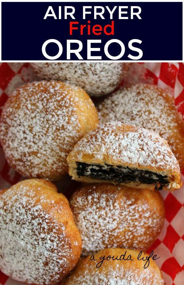 Air Fryer Fried Oreos healthier carnival food A Gouda