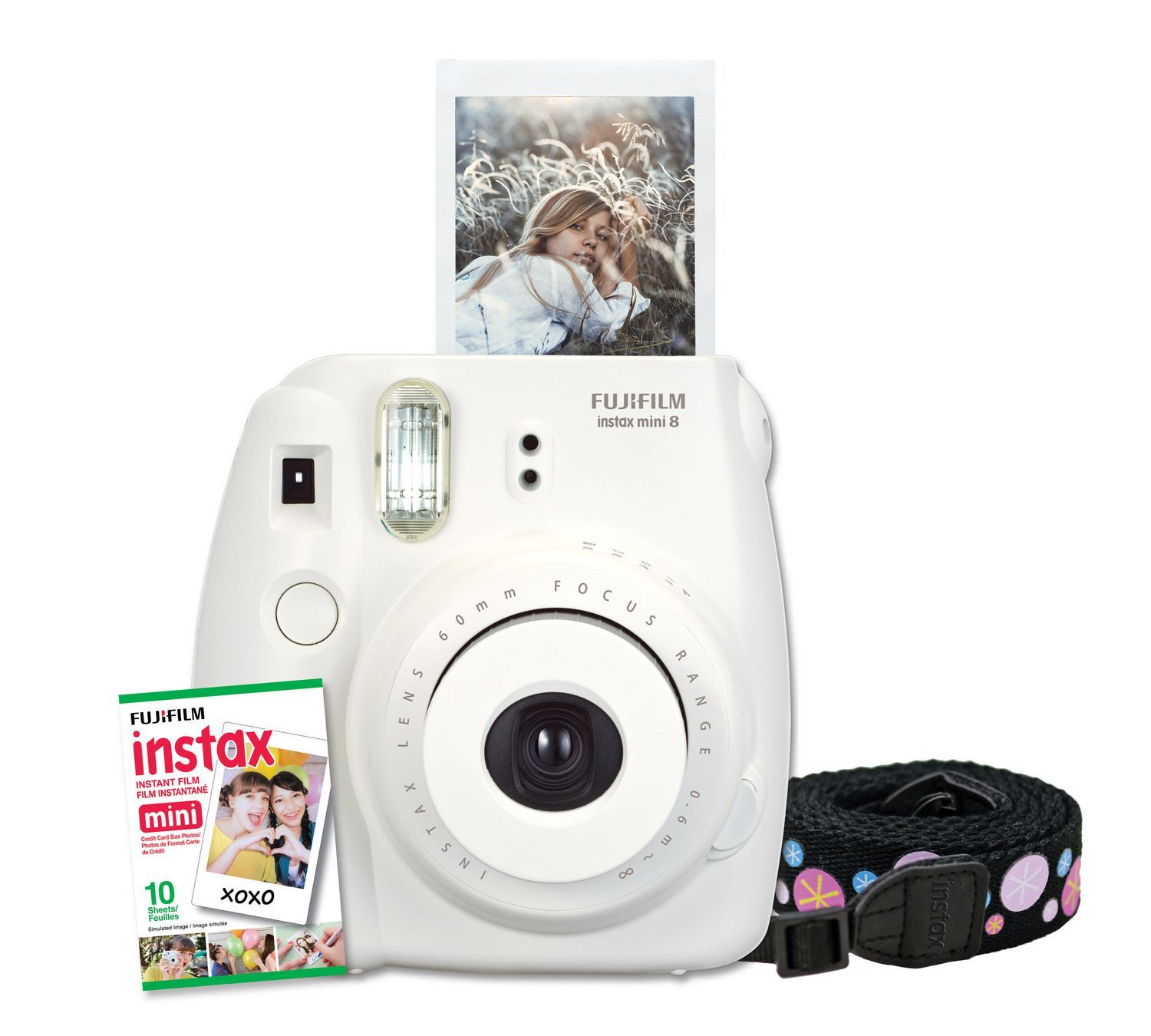 518aa54a6b5b2 Fujifilm Instax Mini 8 Camera With 10 Exposures And Strap