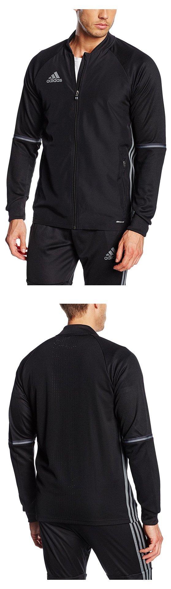 11ba37cd18  44.11 - Adidas Condivo 16 Plain Training Jacket - Adult - Black Grey -  Black