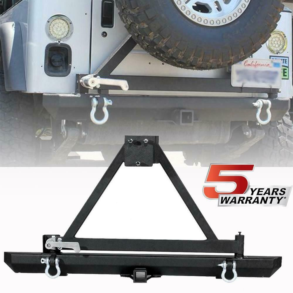 Sponsored Ebay Rear Bumper With Tire Carrier Lock Hitch