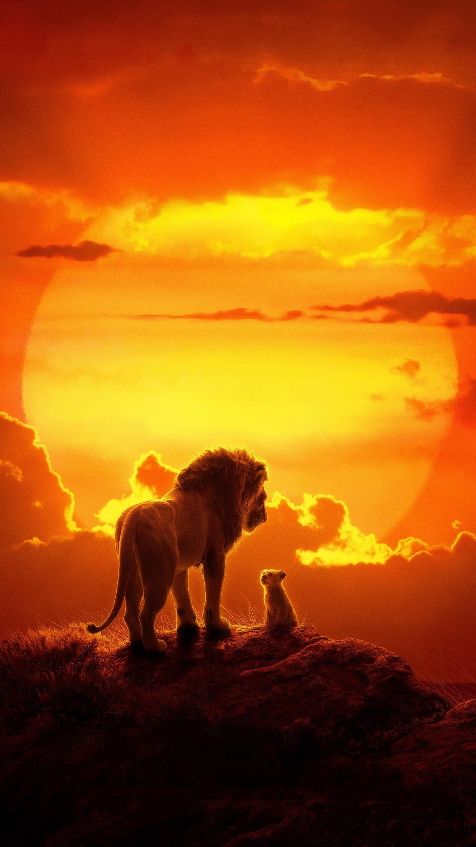 The Lion King (2019) Phone Wallpaper in 2020 Watch the
