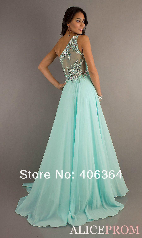 Mint green long formal dress | Beautiful dresses | Pinterest ...