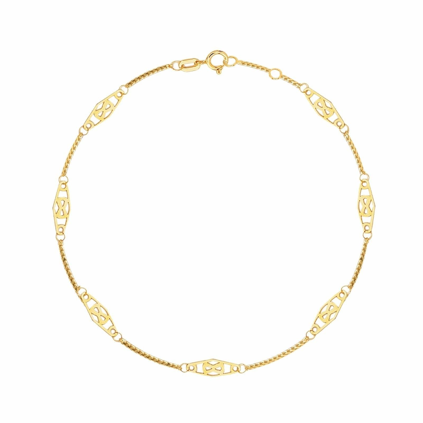 yellow gold bracelet set anklet p