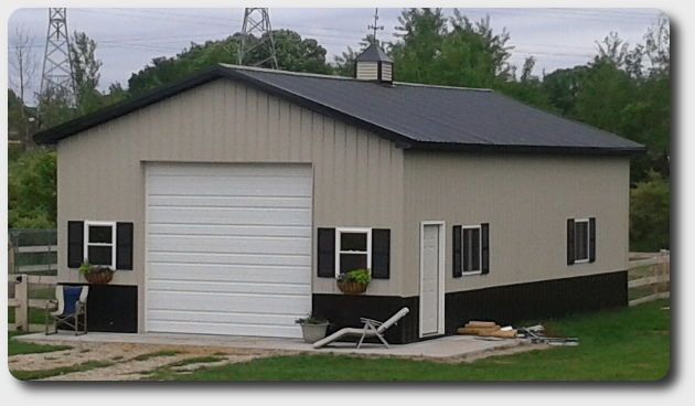 24 X 36 Pole Barn Garage Optikits Pole Barn House Plans Pole Barn Garage Pole Barn Shop
